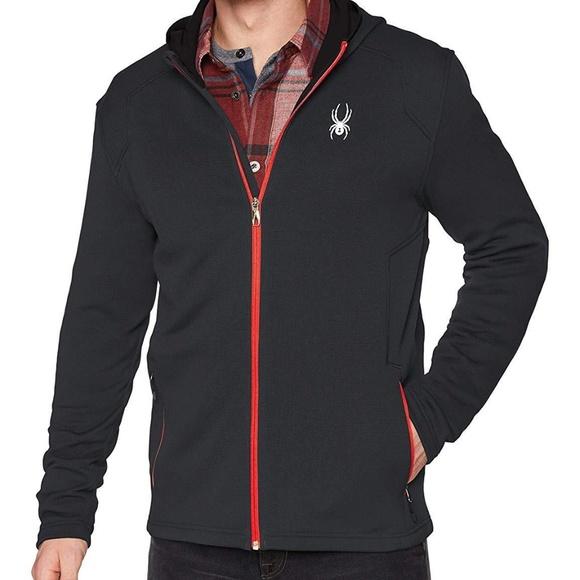 NEW Men/'s Spyder Chambers Full Zip Hooded Fleece Jacket MSRP $129